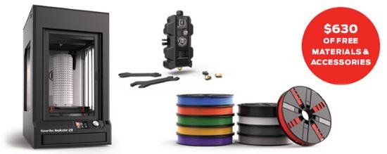 Köp Replicator Z18 – få 10 filamentrullar och en Experimental