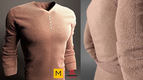 Tröja skapad med Marvelous Designer och Substance Painter