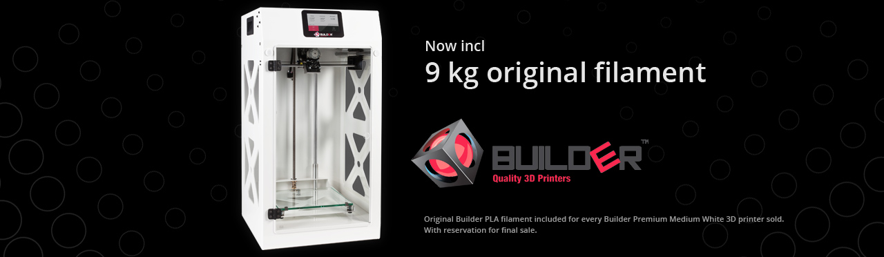 Builder Premium Medium White 9 kg filament