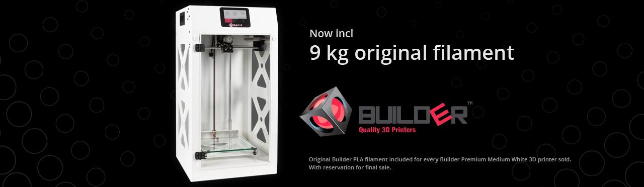 Builder Premium Medium White 9 kg filament