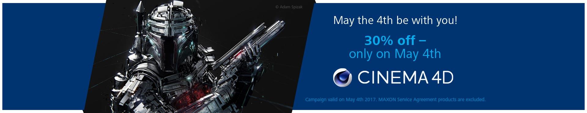 MAXON Flash Sale May 4th