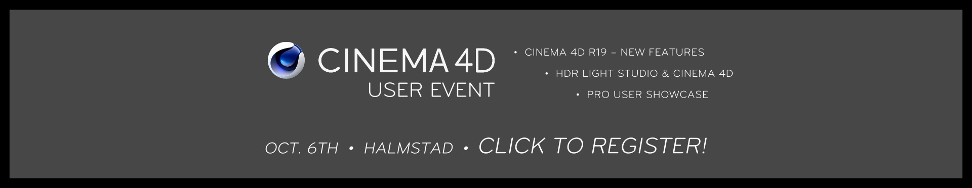 Cinema 4D User Event