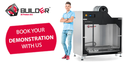 Visit us for a demonstration of the Builder Extreme 1500 3D Printer
