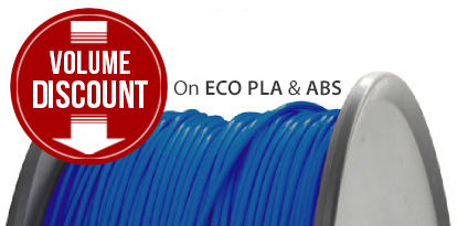 Volume discount on ABS and PLA filaments!
