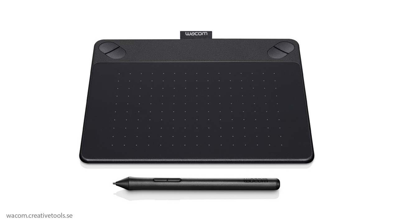 Wacom - Intuos Pro Small Pen and Touch Tablet - Black - Larger Front