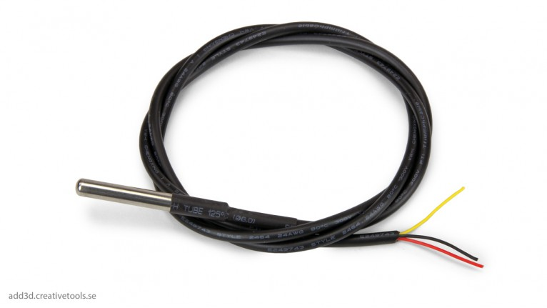 ADD3D - DS18B20 - 1-wire temperature sensor with cable