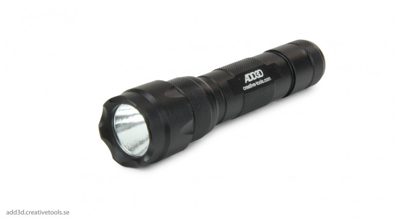 ADD3D - UV Flashlight incl. rechargeable battery and charger
