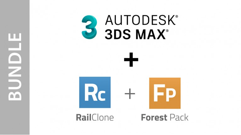 Autodesk 3ds Max + Forest Pack + RailClone - Bundle
