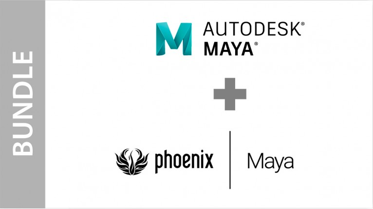 Autodesk Maya + Phoenix FD for Maya - Bundle
