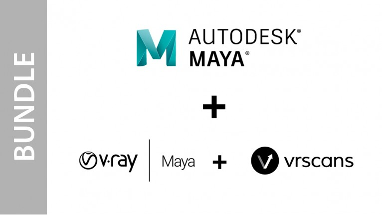 Autodesk Maya + V-Ray for Maya + VRscans - Bundle