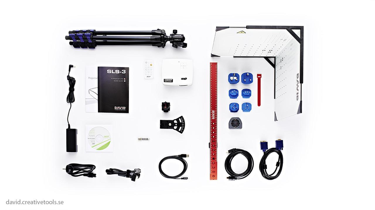 DAVID - DAVID-SLS-3 HD - Structural Light Scanner