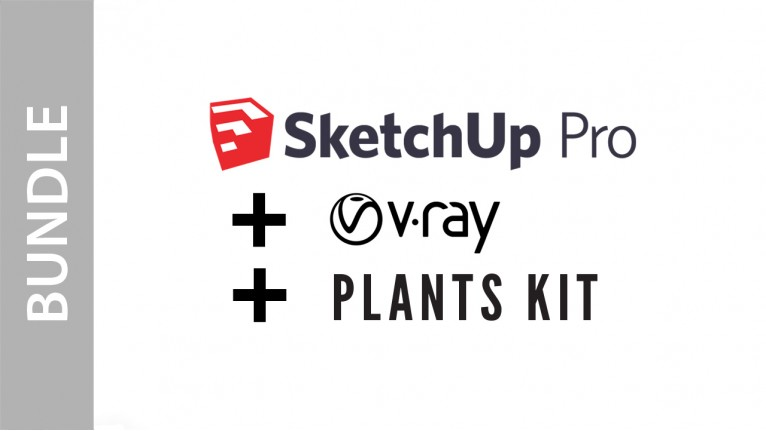 SketchUp Pro + V-Ray + Plants Kit