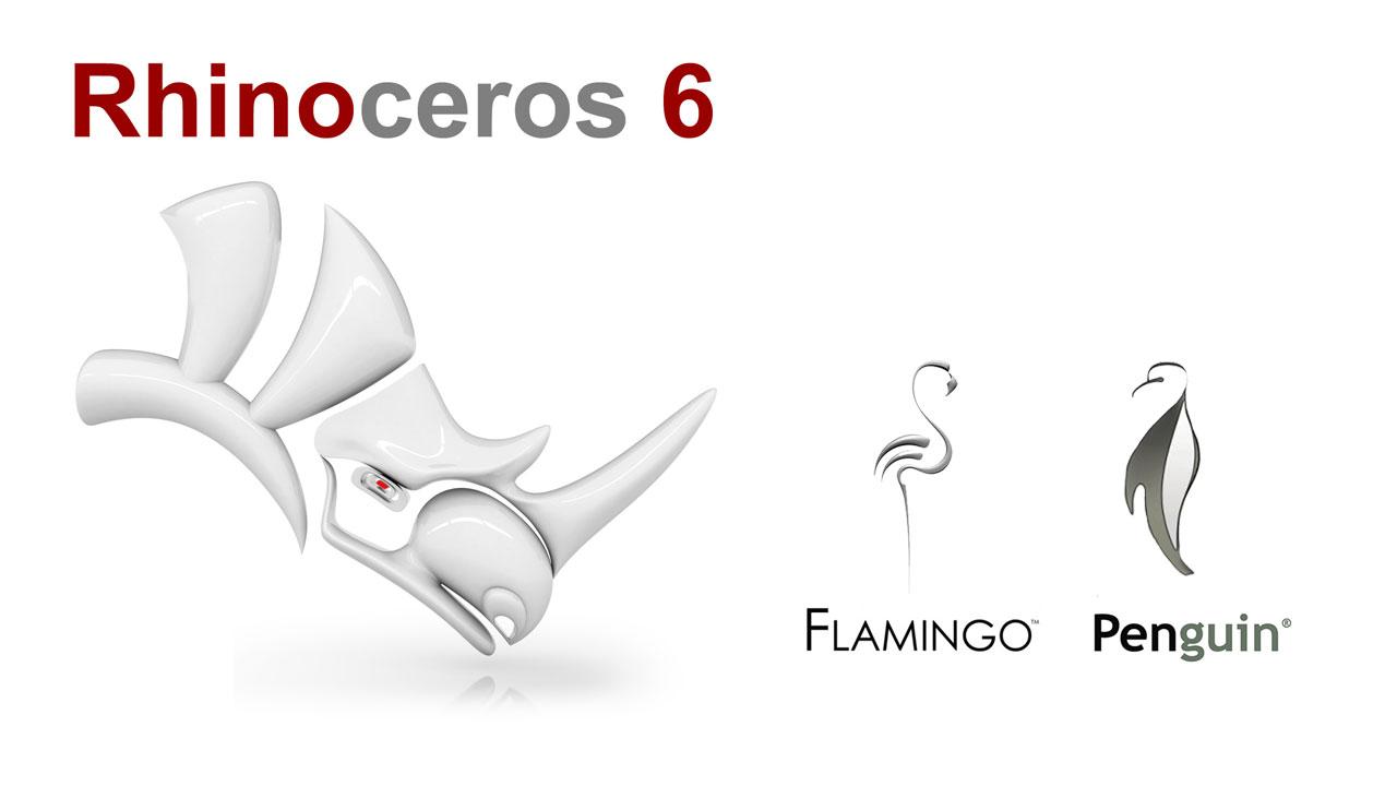McNeel - Rhino 6 + Flamingo + Penguin Bundle