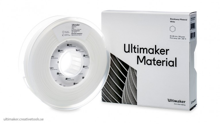 Ultimaker - Breakaway - White - 2,85mm - 750g - NFC tag