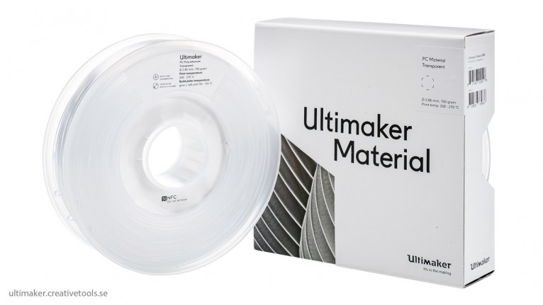 Ultimaker - PC - Transparent - 2.85mm - 750gr - NFC tag
