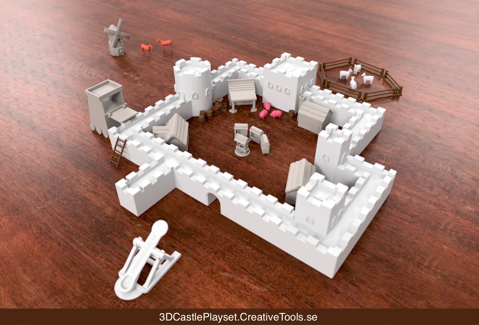 photo regarding 3d Printable Tools referred to as Modular Castle Playset (3D-printable)